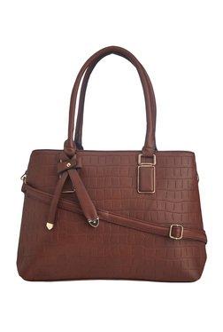 Vero Couture Brown Bow Detail Shoulder Bag