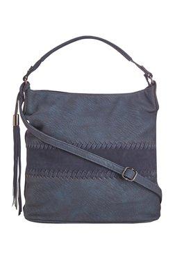Vero Couture Blue Panelled Shoulder Bag