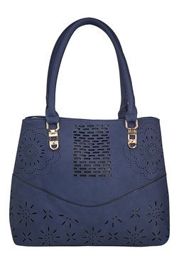 Vero Couture Blue Textured Shoulder Bag