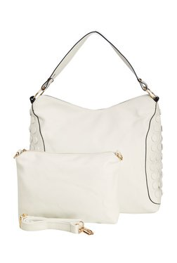 Vero Couture White Studded Shoulder Bag With Pouch