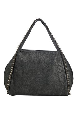 Vero Couture Dark Grey Beaded Shoulder Bag