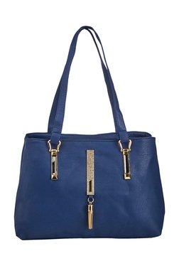 Vero Couture Blue Embellished Shoulder Bag