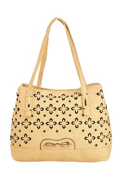 Vero Couture Cream Laser Cut Shoulder Bag