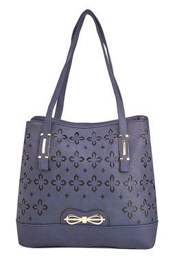 Vero Couture Navy Laser Cut Shoulder Bag