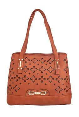 Vero Couture Brown Laser Cut Shoulder Bag - Mp000000001243202