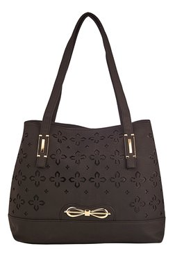 Vero Couture Black Laser Cut Shoulder Bag - Mp000000001243206