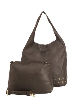 Vero Couture Dark Brown Hobo Bag With Pouch