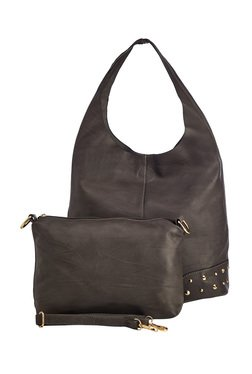 Vero Couture Dark Grey Hobo Bag With Pouch