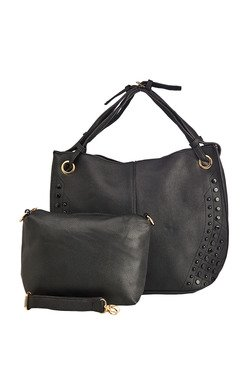 Vero Couture Black Embellished Shoulder Bag With Pouch