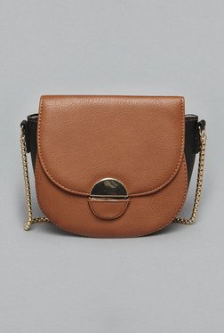 LOV By Westside Tan Faux Leather Sling Bag