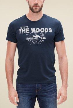 S.Oliver Navy Printed Regular Fit T-Shirt