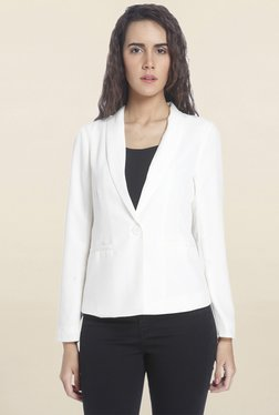 Vero Moda White Solid Blazer - Mp000000001244971