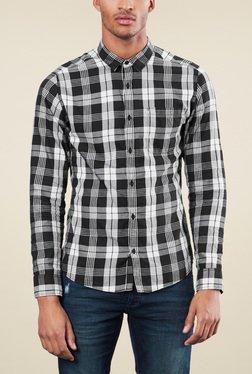 s.Oliver White & Black Full Sleeves Shirt
