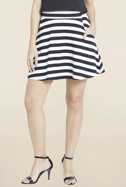Globus Black & White Striped Skirt