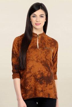 Pannkh Brown Tie Dye Top