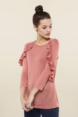 Femella Pink Textured Top