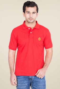 Red Tape Red Regular Fit Polo T-Shirt