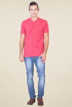 Red Tape Red Half Sleeves T-Shirt