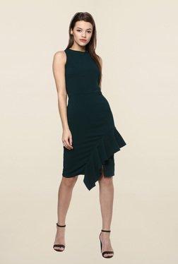 Femella Green Knee Length Dress