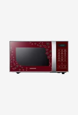 Samsung CE77JD-CS/TL 21 L Convection Microwave (Red)