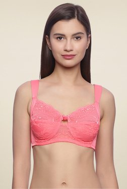 Zivame Pink Non Padded Lace Bra