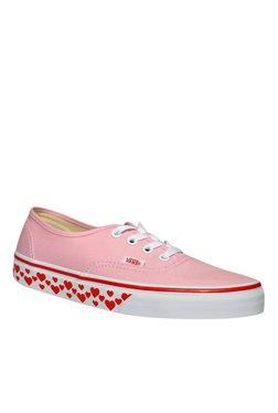 Vans Authentic Pink & Red Sneakers