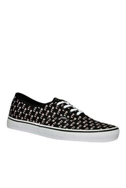 Vans Authentic Black & Pink Sneakers