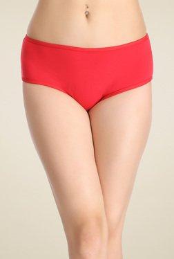 Clovia Dark Red Mid Waist Hipster Panties