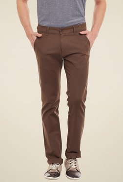 Duke Brown Regular Fit Chinos