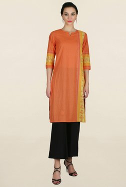 Juniper Orange Printed Kurti