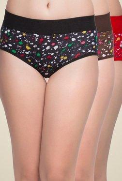 Clovia Multicolor Cotton Bikini Panties (Pack Of 3)