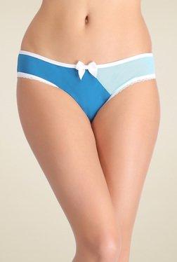 Clovia Blue & Sky Blue Mid Waist Bikini Panties