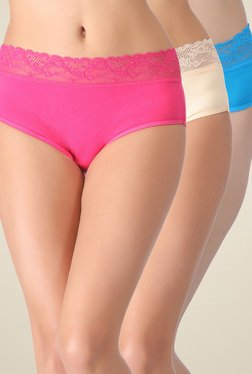Clovia Multicolor High Waist Hipster Panties (Pack Of 3)