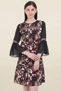 Instacrush Brown Floral Print Dress