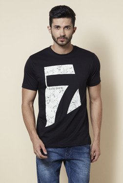 Zudio Black Crew Neck Regular Fit T Shirt - Mp000000001260263