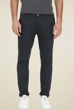Hubberholme Dark Grey Slim Fit Cotton Chinos