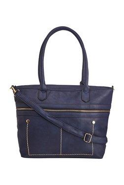 Vero Couture Blue Stitched Shoulder Bag