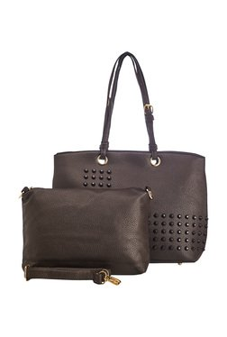 Vero Couture Coffee Brown Shoulder Bag With Sling Bag