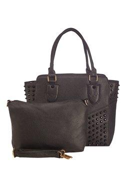 Vero Couture Black Riveted Shoulder Bag With Sling Bag - Mp000000001260977