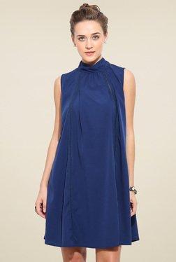 Blue Sequin Dark Blue Sleeveless Dress