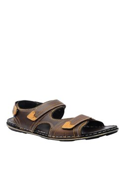 Buckaroo Kyson Dark Brown And Tan Floater Sandals