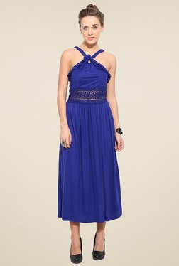 Blue Sequin Royal Blue Regular Fit Dress