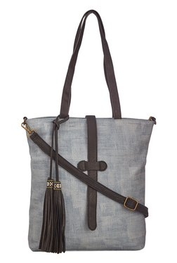 Vero Couture Blue Tassel Detailed Tote