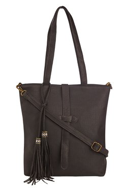 Vero Couture Black Tassel Detailed Tote