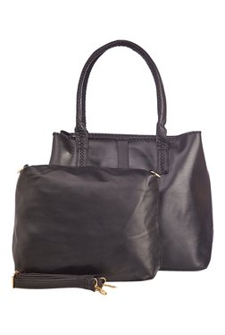 Vero Couture Black Solid Shoulder Bag With Pouch