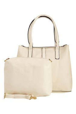 Vero Couture White Solid Shoulder Bag With Pouch