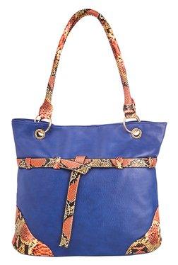 Vero Couture Blue Belted Shoulder Bag