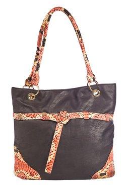 Vero Couture Black Belted Shoulder Bag