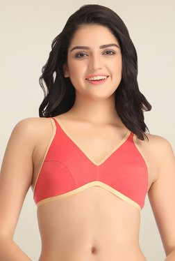 Clovia Pink Non Wired T-Shirt Bra