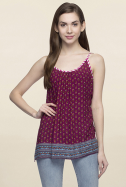 Oxolloxo Maroon Printed Cami Top
